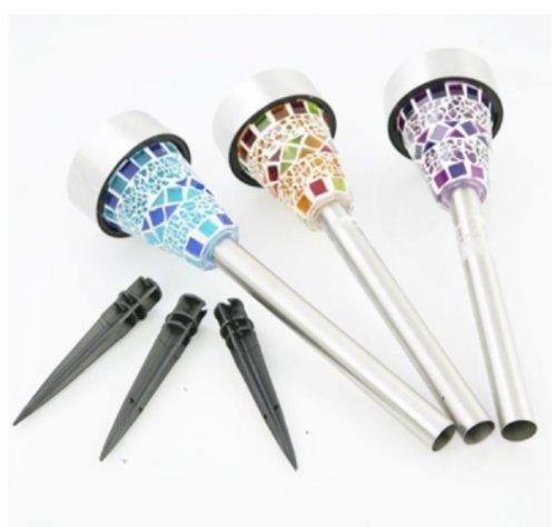 Acorn - Solar Mosaic Lights for the Garden post light Pack of 6