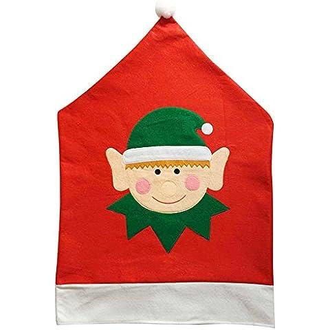 Tessuto non tessuto natale decorazioni elfi rosso coprisedie