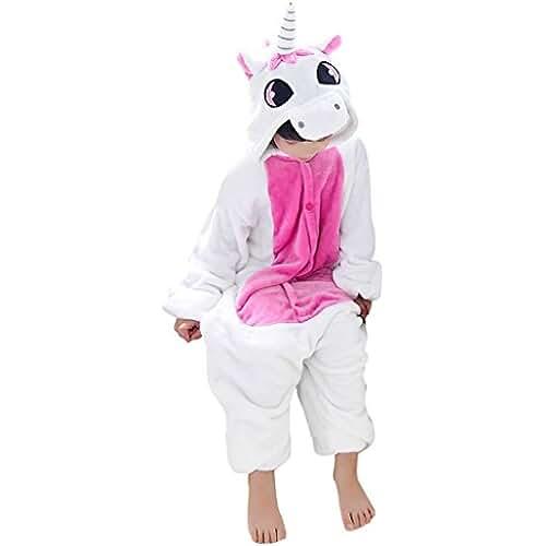 pijama de unicornio kawaii Happy cherry - Pijama Ropa de dormir Disfraz de Animal Dinosaurio Franela para Niños niñas