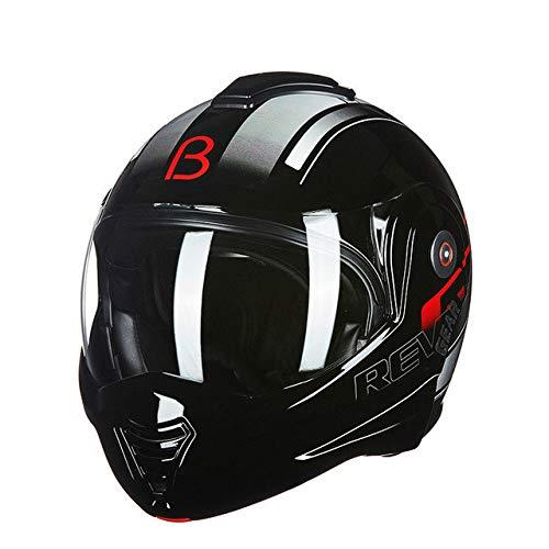 Moto Cool Double 180 gradi Flip Helmet Winter Moto Personalità Atv Off-road Casco moto uomo e donna Casco moto 5 XL