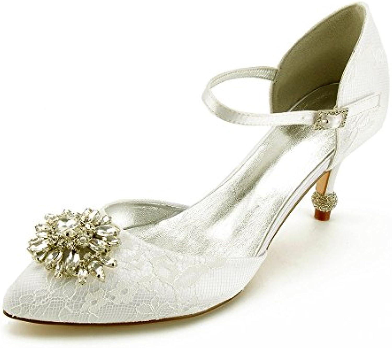 Zxstz Chaussures à Talons Talons Talons Hauts Femmes Chaussures Nuptiale Dentelle Satin Fête Danse Chaussures de Mariage Chaussures...B07FXWZJWMParent | Shopping Online  3ccb03