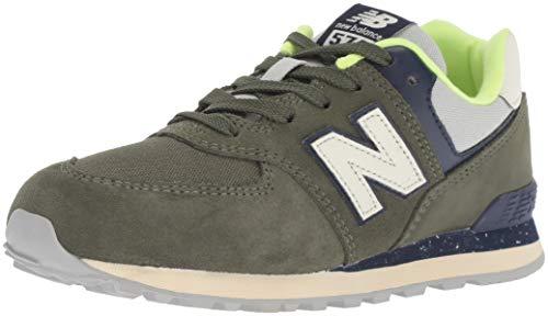 New Balance 574v2, Sneaker Unisex-Bambini, Verde (Dark Covert Green/Pigment HG), 38 EU