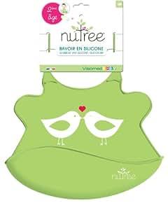 Visiomed - Bavoir 2ème âge en silicone souple Nutree Vert