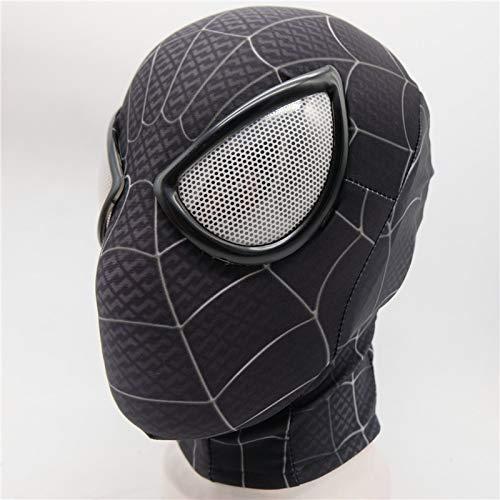 VAWAA Spider Man: Into The Spider-Verse Miles Morales Maske Cosplay Peter Parker Kostüm Superheld Zentai Erwachsene Spiderman Homecoming