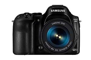 Samsung NX30 18-55 Kit - Black (20.3MP, Digital IS + OIS) 3 inch AMOLED