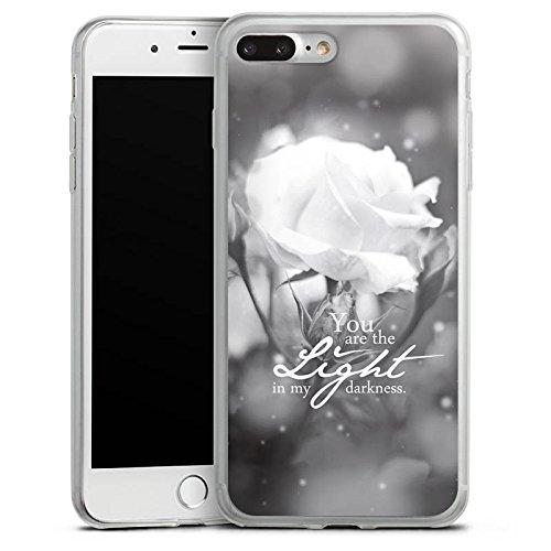 Apple iPhone X Slim Case Silikon Hülle Schutzhülle Liebe Rose Statement Silikon Slim Case transparent