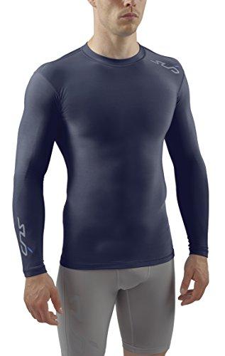 Sub Sports Herren Cold Kompressionsshirt Thermisch Funktionswäsche Base Layer langarm Navy, S -