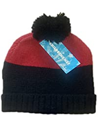 Pour enfants/filles bande thermique chapeaux avec Bobble 2 ombre imprime en unique taille, noir