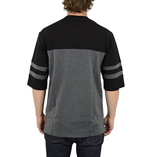 Pelle Pelle Bay Area Halbarm Heavy T-Shirt anthra schwarz - weit und lang geschnitten Charcoal
