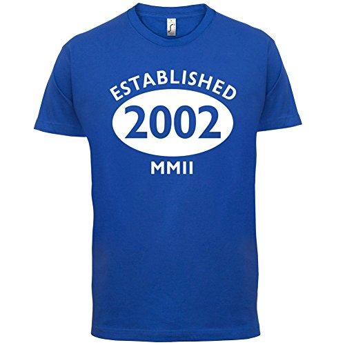 Gegründet 2002 Römische Ziffern - 15 Geburtstag - Herren T-Shirt - 13 Farben Royalblau