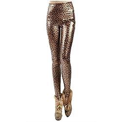 Top Totty mujeres de la moda clásico leopardo Leggings Estampado De Leopardo Talla única