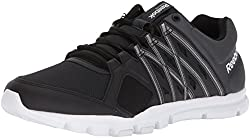 Reebok Mens Yourflex Train 8.0 LMT S Sneaker Black/Gravel/White 10.5 D(M) US