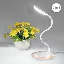 S&G Schreibtischlampe LED Tageslichtlampe 3 Helligkeitsstufen dimmbar Touchfeldbedienung Tischleuchte (warme weiß)