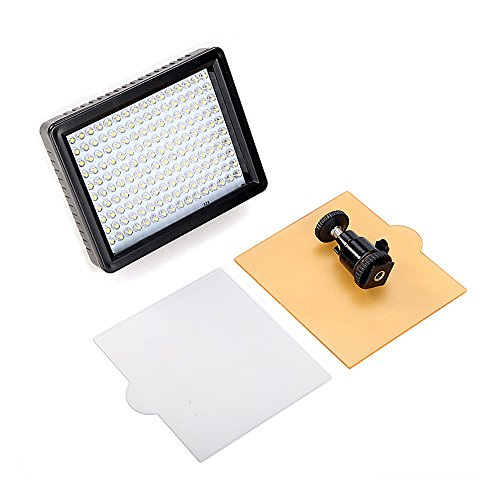 Andoer 160 LED Video Light Lamp Panel 12W 1280LM Dimmable für Canon Nikon Pentax DSLR Camera Video Camcorder Fh100 Lithium-batterie