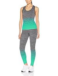 FM London Women's Sportswear Set | Vest Top and Leggings Stretch-Fit Gym Wear Set