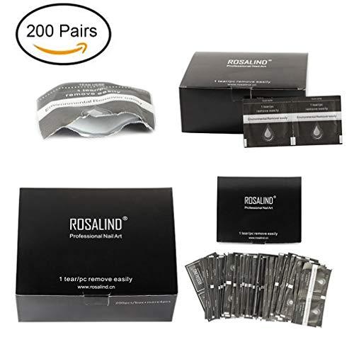 Rosalind 200 Paar Gel-Nagellackentferner, einfach zu reinigen, UV-Gel, Einweg-Wraps -