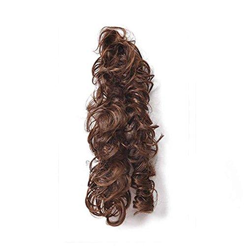 Babysbreath Frauen Horsetail Lange Haarteile Pferdeschwanz Wavy Lockige Haarverlängerung Hellbraun