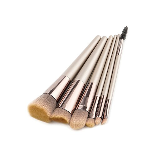 Demarkt 6 Pcs Pinceau de Maquillage Pinceau de beauté Brush Champagne Gold Foundation Brush Fard à paupières Brush Set(Style 2) 16.6 * 9 * 1.6cm
