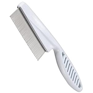Yacool® inox Pin Pet chien cheveux aux puces peigne broche chat Shedding toilettage propre outil Pinceau (couleur blanche)
