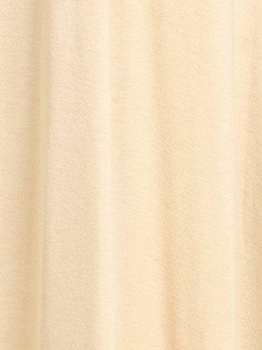 Anna-Kaci Frauen gewickelter Vorderseite Taille Krawatte V-Ausschnitt Twist Zurück Maxikleid Beige