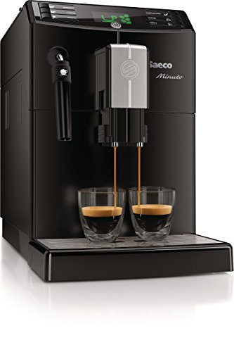 Saeco HD8761/01 Minuto Kaffeevollautomat, klassischer Milchaufschäumer, schwarz - 4
