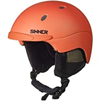 Sinner sihe-120-60-60Adult Unisex Ski/Snowboard Helmet, Neon Orange, Size L