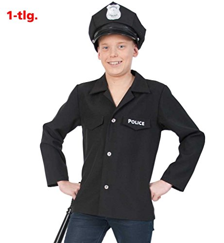 Polizei-Jacke, Polizist, Police-Officer, Polizei-Uniform Kinder-Kostüm Polizei-Kostüm (152) (Police Officer Uniform Kostüm)