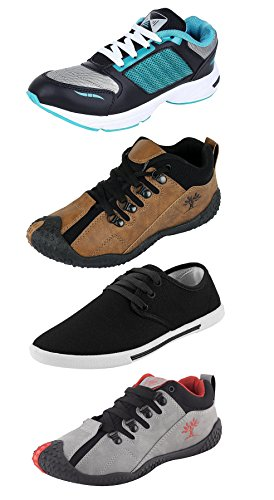 Chevit Combo Pack of 4 Casual and Sports Shoes for Mens (Sneakers...