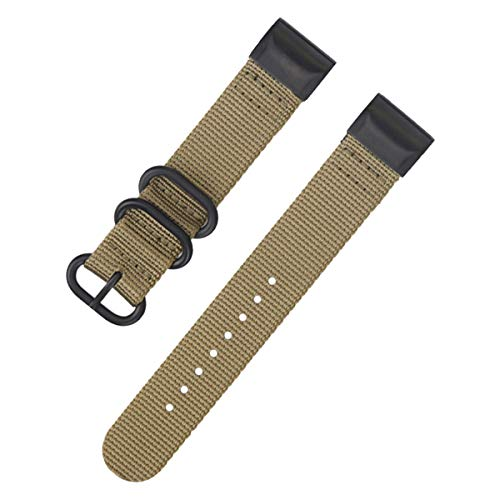 Khaki NATO Uhrband Ersatz für Garmin fenix3 / 5X 26mm Nylon Uhrenarmband für Männer - Nylon-loop-uhr-band 22mm
