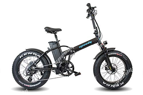 Speedy Ebike Sport 1000w 48v - 17,5ah Bicicletta Elettrica Pieghevole Fat Bike (Nero)