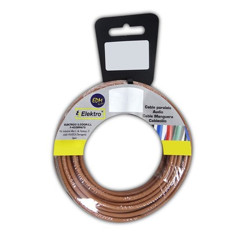 Angelrolle cablecillo flexibel 4 mm Marron 25 mts. libre-halogeno