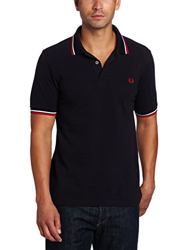 fred-perry-m3600-polo-uomo-multicolore-navy-white-471-medium-taglia-produttorem