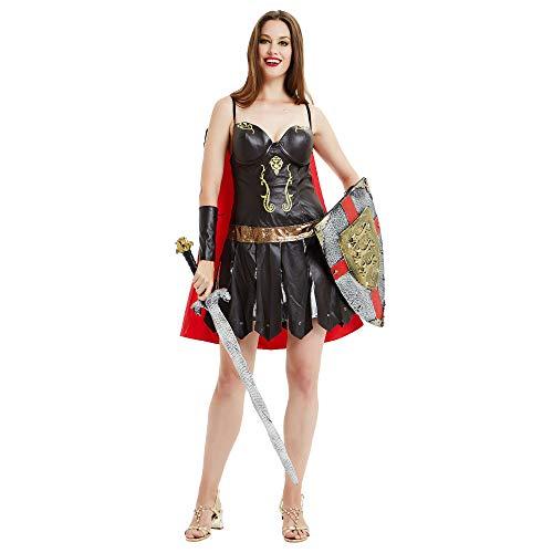 Kostüm Frau Krieger Sexy - CAGYMJ Retro Kleidung Damenrock Kleid,Cosplay Anime Rock Sexy Frau Krieger,Halloween Maskerade Festival Themenparty Karneval