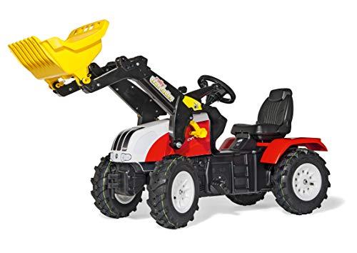 Trettraktor mit Luftbereifung Rolly Toys rollyFarmtrac Steyr CVT 6240 (für Kinder von 3 bis 8 Jahren, Sitz verstellbar, Luftbereifung) 046331