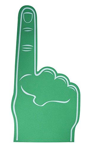Unbekannt Palme Bedruckt Riesiges Eva Schaum Handschuh Spitzen Fingers - Grün