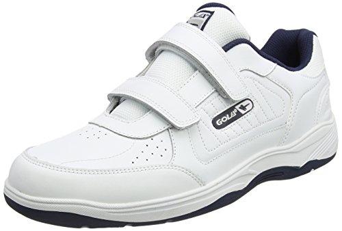 Gola Herren Belmont Velcro Hallenschuhe, Weiß (White/Navy We White), 48 EU (Casual Navy Velcro Schuh)