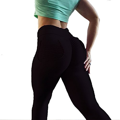 414PA LbY8L. SS500  - YOFIT Women Ruched Butt Yoga Pants Lifting Leggings High Waisted with Pockets Sport Tummy Control Gym