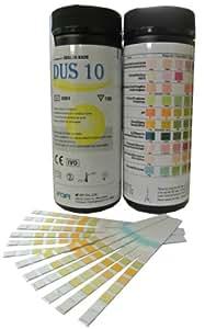 Health Mate 10 Parameter Professional/ GP Urinalysis Multisticks Urine Strip Test Stick Strips - Pack of 100 Strips