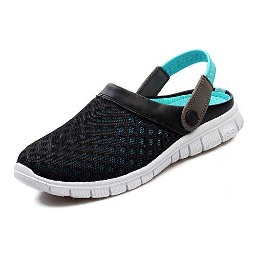 SAGUARO Unisex Respirable de la Red del Acoplamiento Zapatillas de Playa Ahueca hacia Fuera Las Sandalias, Azul 37