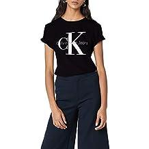 Calvin Klein Jeans Damen T-Shirt SHRUNKEN TEE, Camiseta Para Mujer
