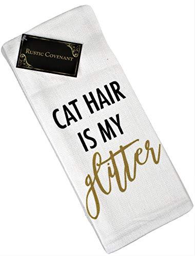 Geschirrtücher aus Gewebter Baumwolle Love My Pet, rustikaler Covenant, 68,6 x 40,6 cm, 6er-Set Tea Towels Cat Hair is My Glitter, 1 Towel Sonoma-bar Set