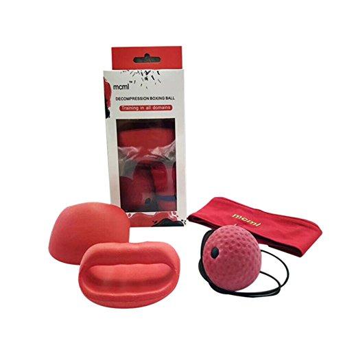 Balai Sport Boxen Rebound Ball, Reflex Punch Speed Training Dekompression Boxball Kopf tragen MCML (Tragen Training)