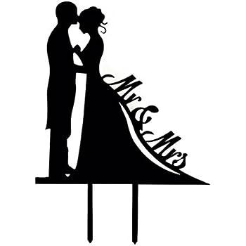 vorcool hochzeitstorte topper acryl kuchendeckel mr mrs brautpaar als tortendeko. Black Bedroom Furniture Sets. Home Design Ideas