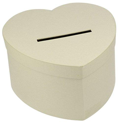 Preisvergleich Produktbild Déco-Sono–Wahlurne / Sparbüchse, in Herzform, aus Pappe