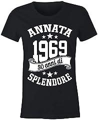 Idea Regalo - 6TN Le Donne realizzate nel 1969 50 Anni di Stupenda Maglietta del 50esimo Compleanno (XL, Nero)