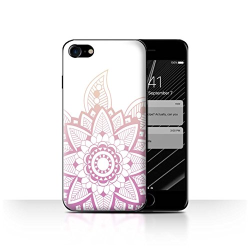 Stuff4 Hülle / Case für Apple iPhone 7 / Rote Punkte Muster / Ombre Muster Kollektion Rosa Henna Blume