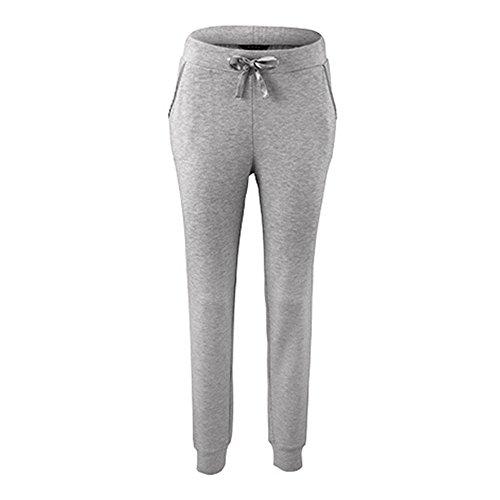 Damen Schlafanzughose Pyjamahose Nachtwäsche Lang Sleep Hose Pants Kariert aus Modal Grau M (Damen Sleep-pant Baumwolle)