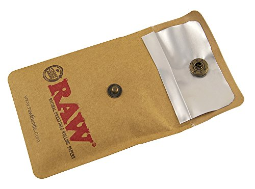 4x Raw Taschenaschenbecher 9 x 7,5 cm feuerfester Kunststoff mit Druckknopf