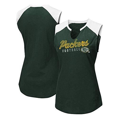 Campus Lifestyle Damen Ärmelloses Tee-Shirt, Green Bay Packers, Größe L