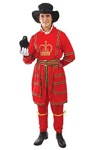Authentische Herr Der Ringe Kostüm - Erwachsene Beefeater Kostüm Karneval Fasching Herren